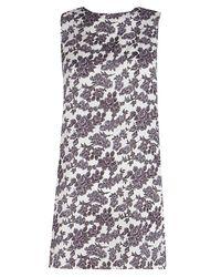 Boohoo | White Petite Jane Printed Sleeveless Shift Dress | Lyst