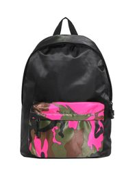 Boohoo - Pink Camo Front Colour Blocked Back Pack for Men - Lyst