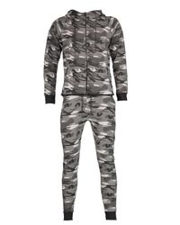 Boohoo   Gray Skinny Fit Combat Tracksuit for Men   Lyst