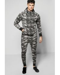 Boohoo | Gray Skinny Fit Combat Tracksuit for Men | Lyst