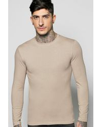 Boohoo - Multicolor Long Sleeve Muscle Fit T Shirt for Men - Lyst