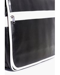 Boohoo - Black Monochrome Pu Cross Body Bag for Men - Lyst