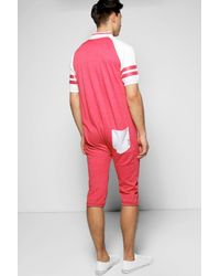 Boohoo - Red Short Onesie for Men - Lyst