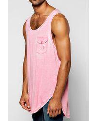 Boohoo - Pink Burnout Pocket Vest for Men - Lyst
