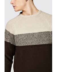 Boohoo | Blue Colour Block Jumper for Men | Lyst