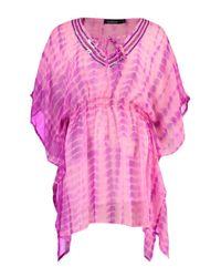 Boohoo - Pink Hollie Embellished Tie Dye Beach Kaftan - Lyst