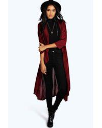 Boohoo | Red Tall Zoyla Knitted Maxi Cardigan | Lyst
