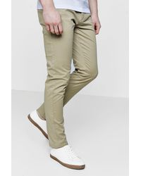 Boohoo - Multicolor Slim Fit Chino Trousers With Stretch for Men - Lyst