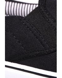 Boohoo - Black Slip On Plimsolls for Men - Lyst