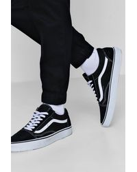 Boohoo Black Slim Fit Woven Jogger With Contrast Drawcord for men