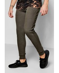 Boohoo - Green Pique Joggers In Skinny Fit for Men - Lyst