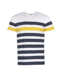 Boohoo - White Horizontal Stripe Crew Neck T-shirt for Men - Lyst