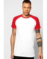 Boohoo | Red Short Sleeve Raglan T Shirt for Men | Lyst