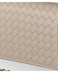 Bottega Veneta - Multicolor Mink Intrecciato Nappa Chain Wallet - Lyst