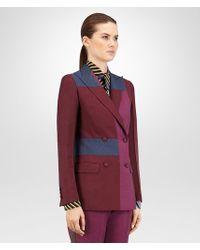 Bottega Veneta - Multicolor Jacket In Barlo Peony Pacific Wool Mohair - Lyst
