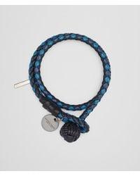 Bottega Veneta - Multicolor Bracelet In Tourmaline Pacific Peacock Intrecciato Nappa Club Leather - Lyst