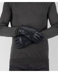 Bottega Veneta - Blue Gloves In Dark Navy Nappa for Men - Lyst
