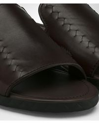 Bottega Veneta - Brown PLAGE SANDALE AUS KALBSLEDER for Men - Lyst