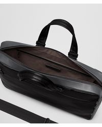 Bottega Veneta - Black Nero Calf/ardoise Intrecciato Nappa Briefcase for Men - Lyst