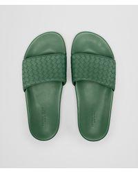 Bottega Veneta - Green LAKE SANDALE AUS INTRECCIATO KALBSLEDER for Men - Lyst
