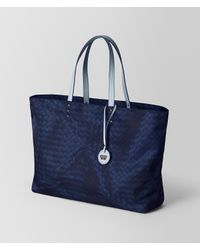 Bottega Veneta - Blue Atlantic Intrecciolusion Tote - Lyst