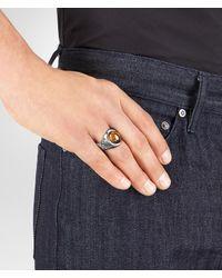 Bottega Veneta - Metallic RING AUS TIGERAUGE for Men - Lyst