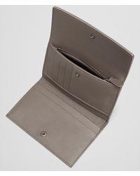 Bottega Veneta - Gray Continental Wallet In Steel Intrecciato Nappa - Lyst