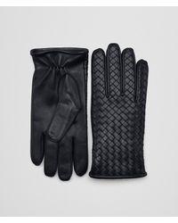 Bottega Veneta - Blue Dark Navy Nappa Glove for Men - Lyst