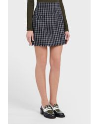 Thom Browne - Multicolor Checkered Silk Mini Skirt - Lyst