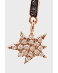 Diane Kordas - Metallic Rose Gold & Diamond Explosion Earring - Lyst