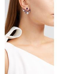 Fernando Jorge - Multicolor Calyx Lilac-coated 18-karat Gold Diamond, Amethyst And Chalcedony Earrings - Lyst