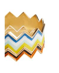 Missoni - Multicolor Zig-zag Stacking Bracelets - Lyst
