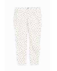 Current/Elliott - Multicolor The Fling Floral-print Mid-rise Slim Boyfriend Jeans - Lyst