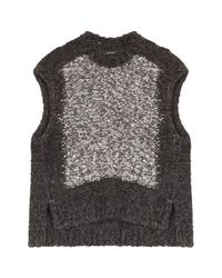 Isabel Marant - Black Sergio Wool Top - Lyst