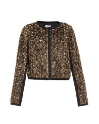 Alice By Temperley | Metallic Donna Gold Rose Bomber | Lyst