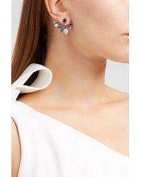 Fernando Jorge - Multicolor Calyx Lilac-coated 18-karat Gold Diamond, Amethyst And Chalcedony Earrings - Lyst