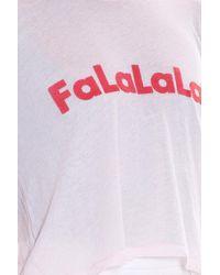 Wildfox - Pink Falala T-shirt - Lyst