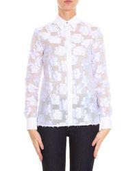 Victoria, Victoria Beckham - White Flower Shirt - Lyst