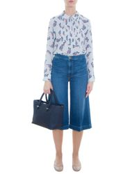 FRAME - Blue Le Culottes - Lyst