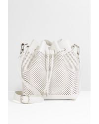 Proenza Schouler - White Perforated Bucket Bag - Lyst