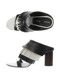 Proenza Schouler - Black Fringed Heel Sandals - Lyst