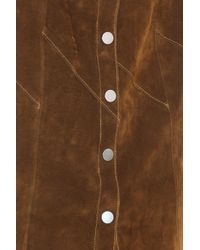 A.L.C. - Brown Suede Skirt - Lyst