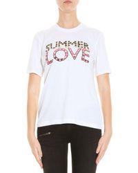 Markus Lupfer - Black Summer Love Embellished 'kate' T-shirt - Lyst