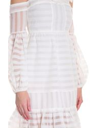 Erdem - White Striped Dress - Lyst