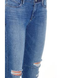 RTA - Blue Destroyed Knee Jeans - Lyst