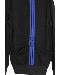 Y-3 - Black Striped Back Jacket for Men - Lyst