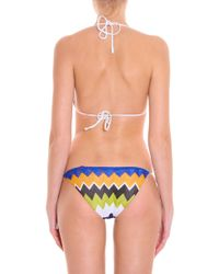 Missoni - Blue Lurex String Bikini - Lyst
