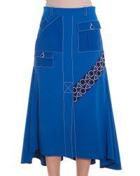 Peter Pilotto - Blue Pocket Midi Skirt - Lyst