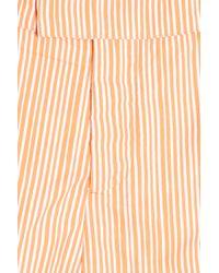 Frescobol Carioca - Orange Tracos Print Mid Swim Shorts for Men - Lyst