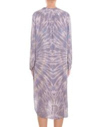 Raquel Allegra - Gray Tie Dye Silk Shirt Dress - Lyst